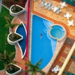 Warermark Hotel has two pools to catch the sun from sunup to sundown.